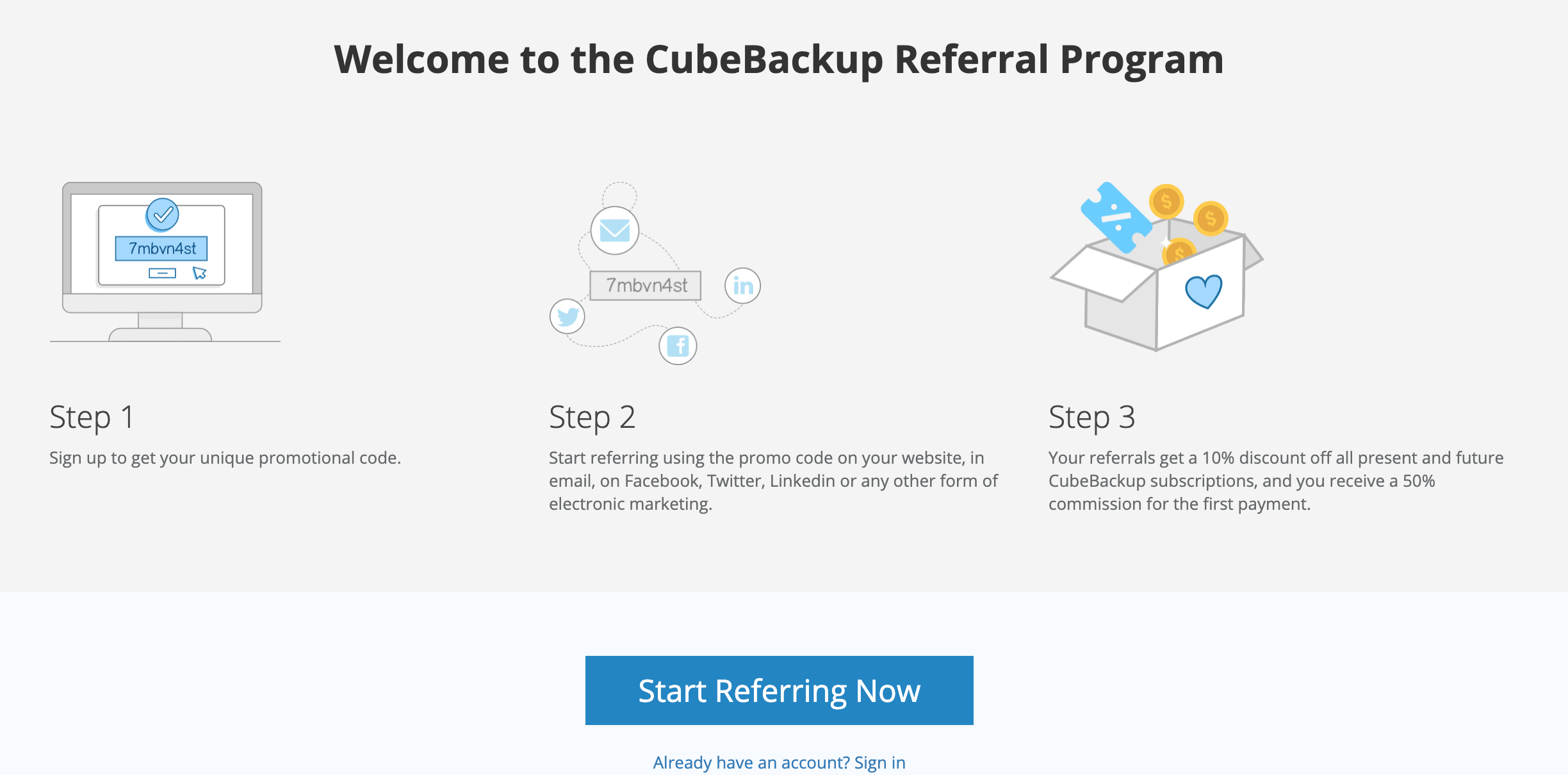 CubeBackup referral