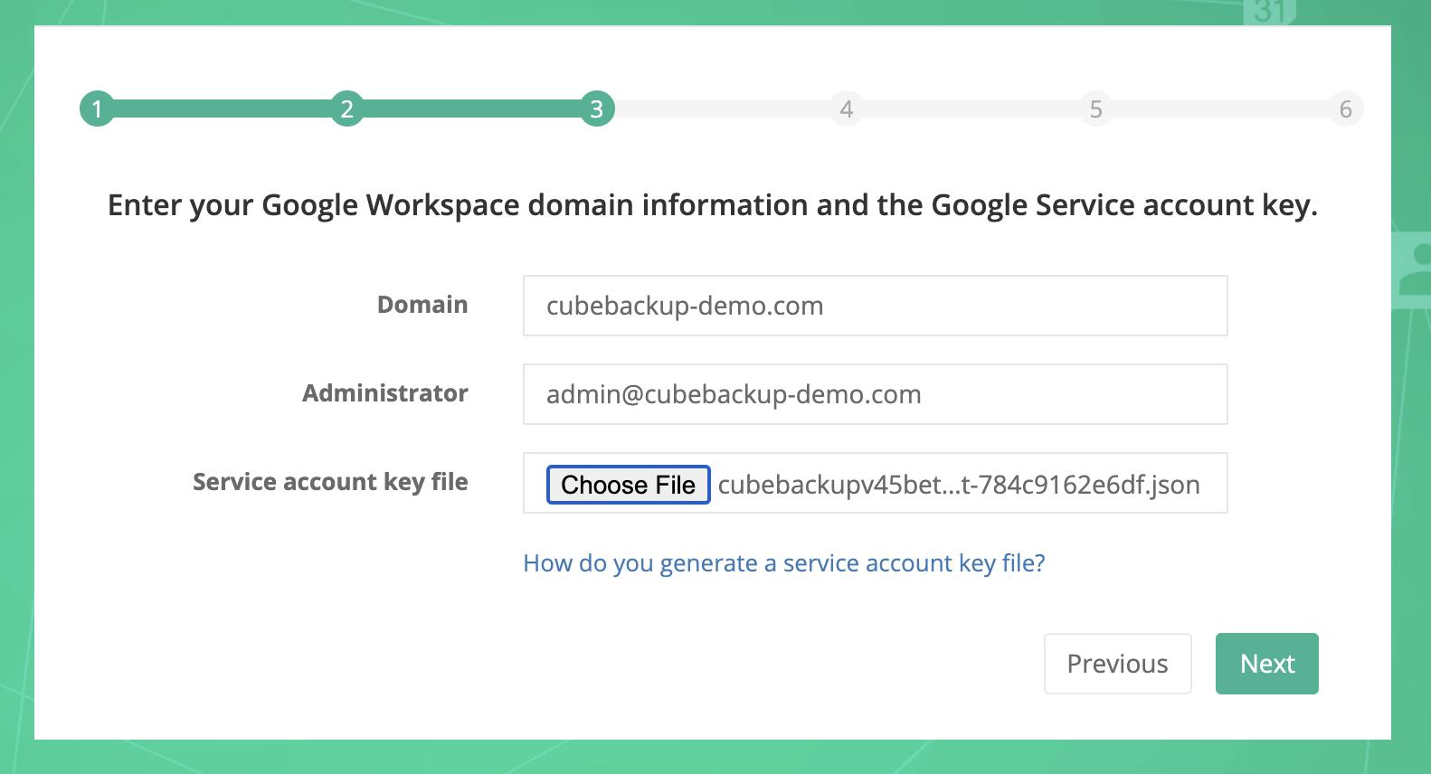 CubeBackup - Initial Configuration using Docker